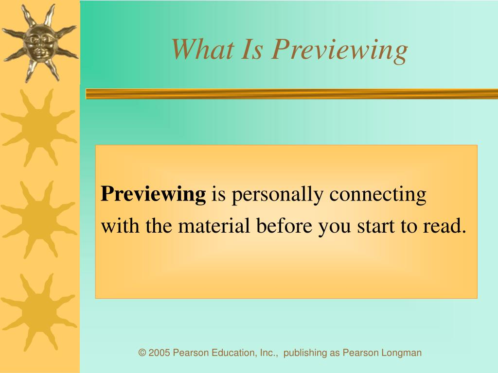 What Is Previewing