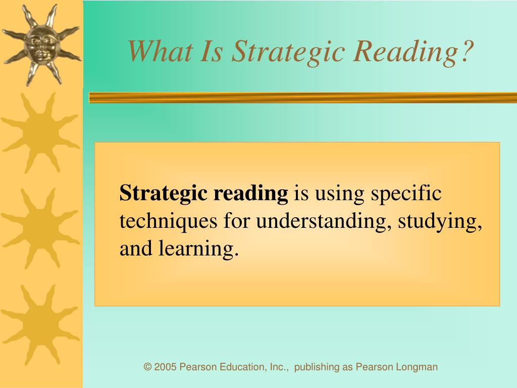 What Is Strategic Reading?