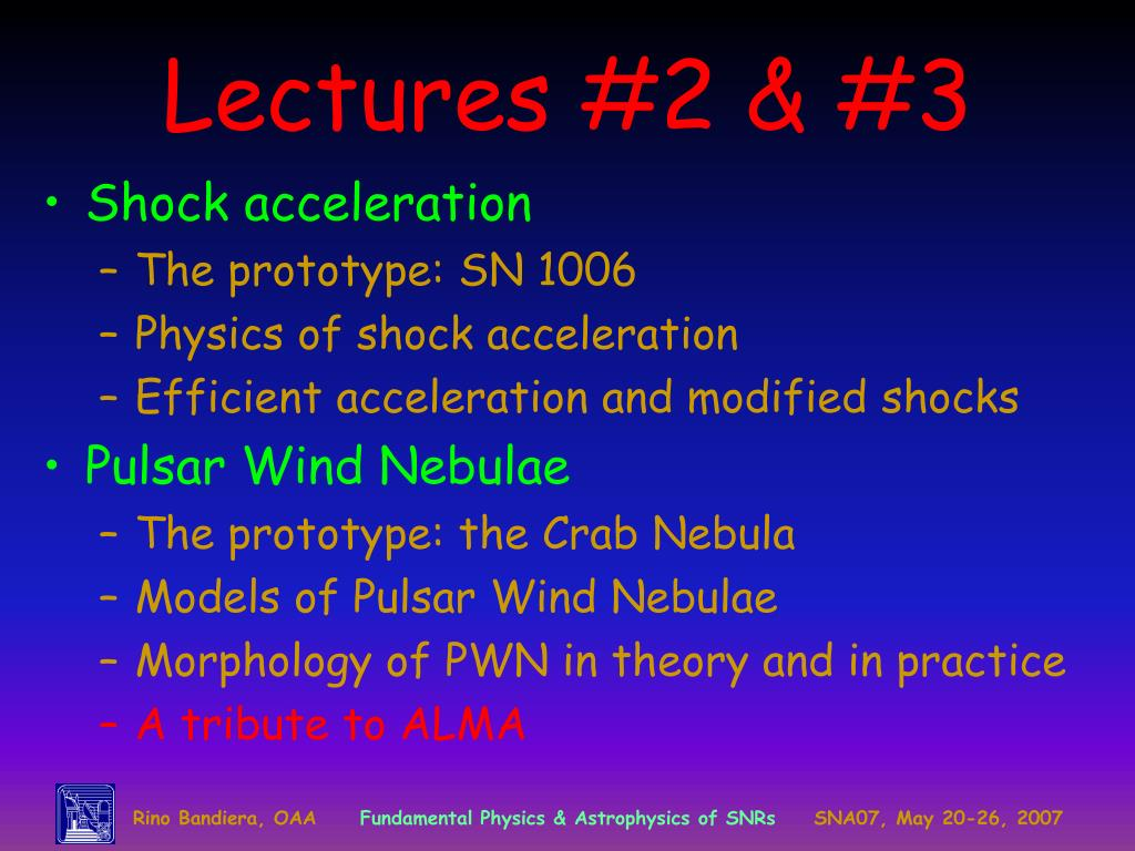 Lectures #2 & #3