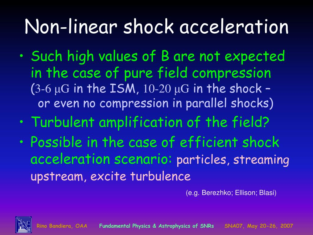 Non-linear shock acceleration