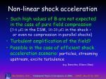 non linear shock acceleration