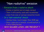 non radiative emission