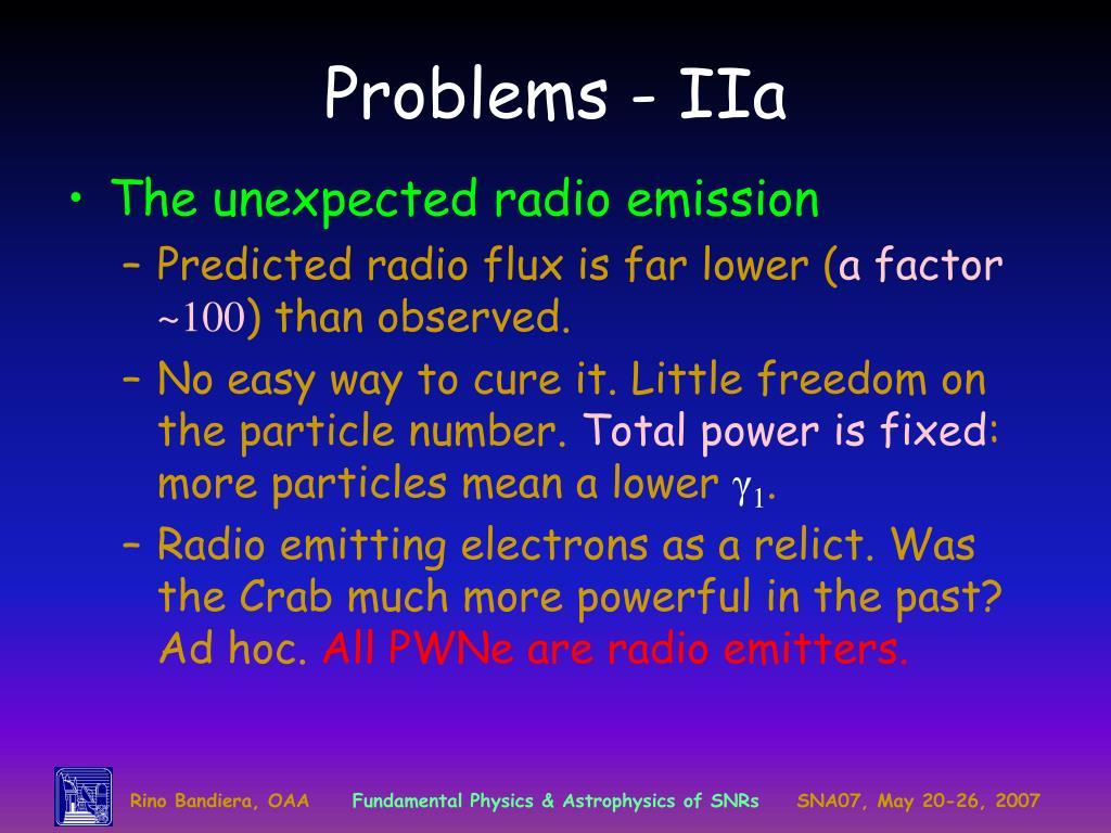 Problems - IIa