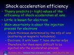 shock acceleration efficiency