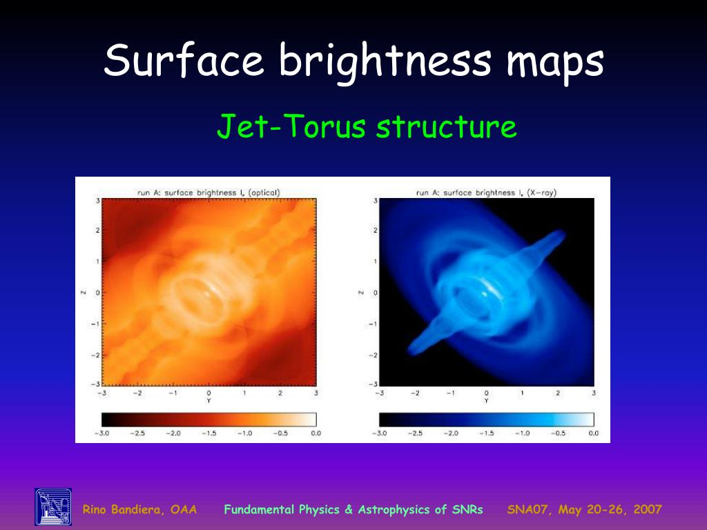 Surface brightness maps