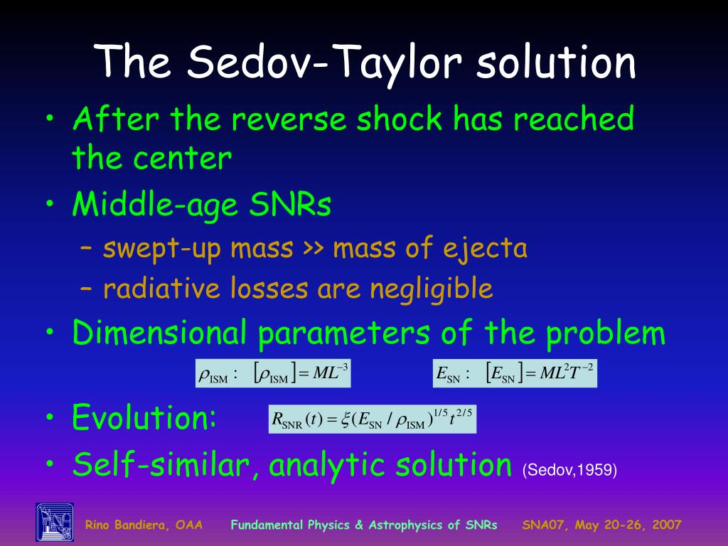 The Sedov-Taylor solution