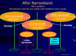 after narrowband still a problem narrowband channels not usable until wideband users vacate