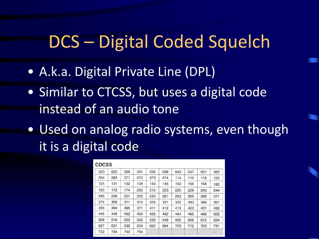 DCS – Digital Coded Squelch