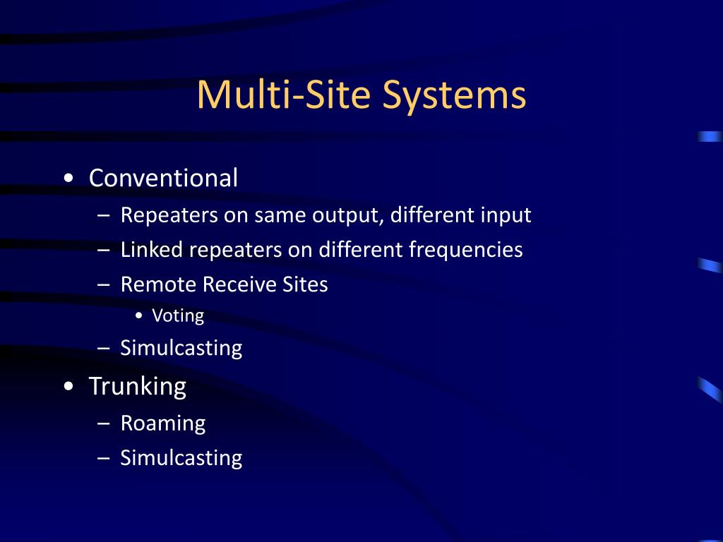 Multi-Site Systems