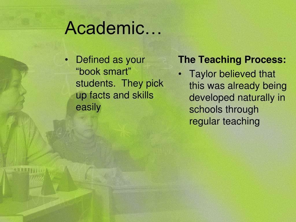 Academic…