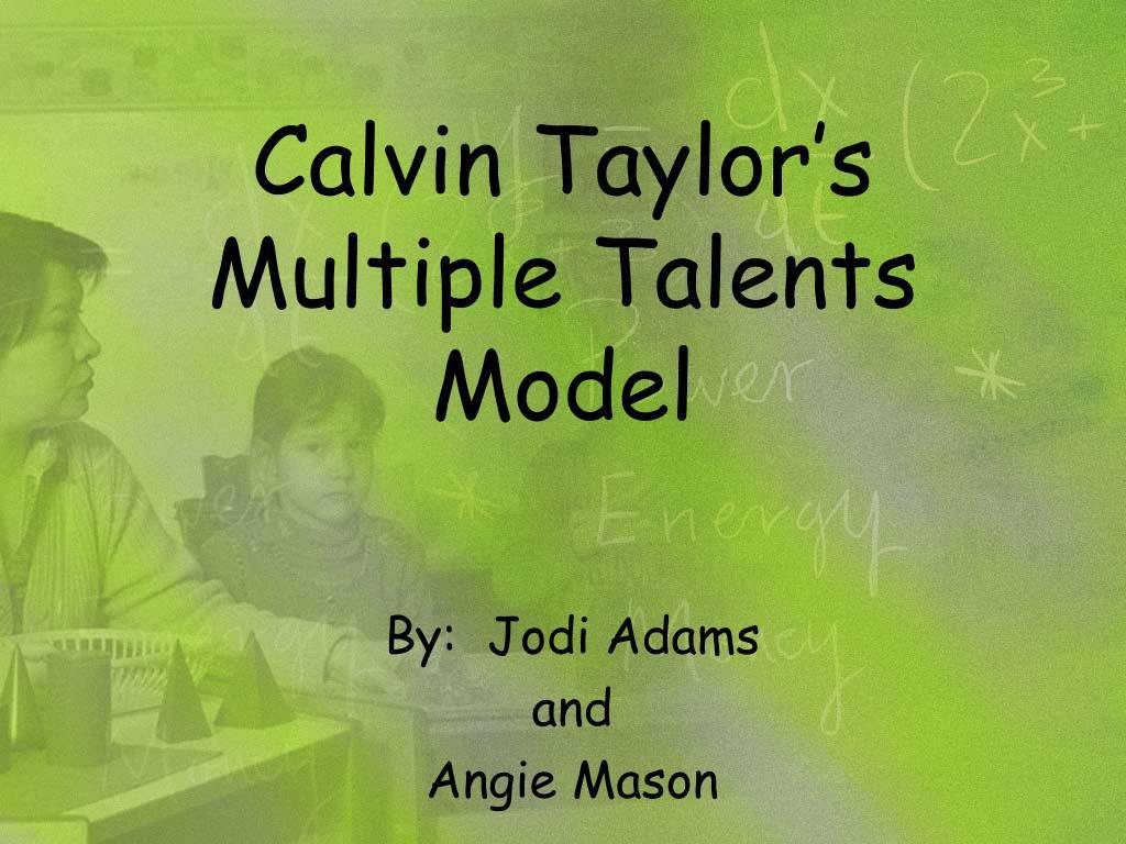 Calvin Taylor's