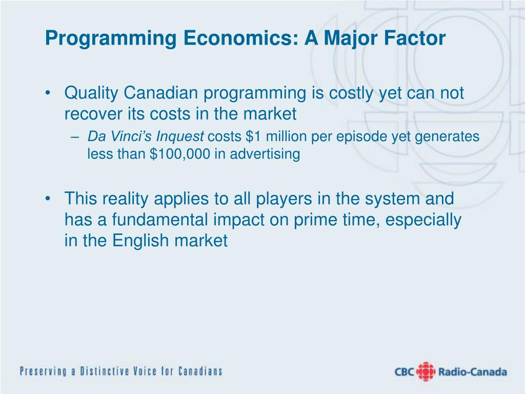Programming Economics: A Major Factor