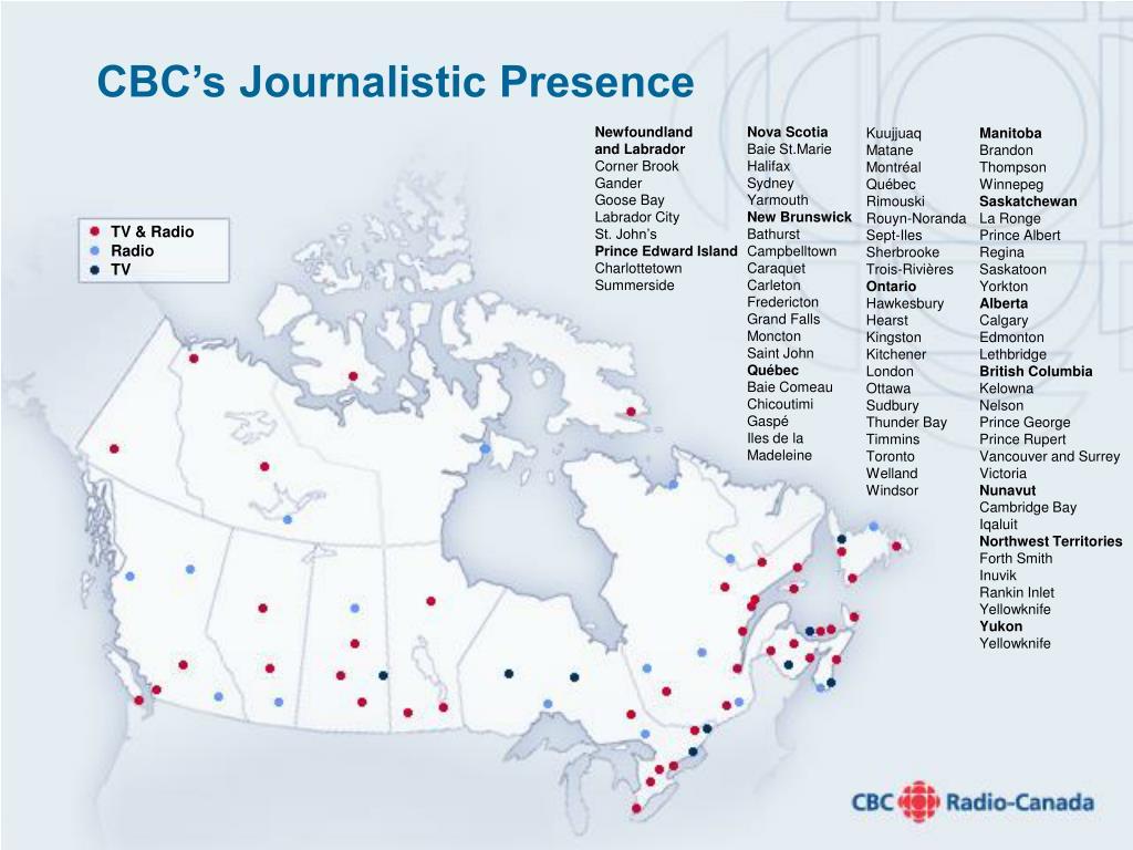 CBC's Journalistic Presence