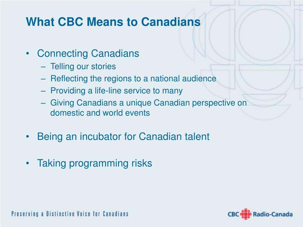 What CBC Means to Canadians