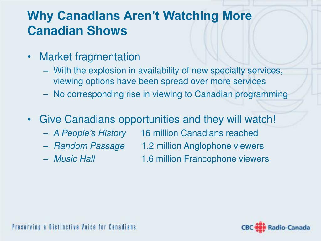 Why Canadians Aren't Watching More Canadian Shows