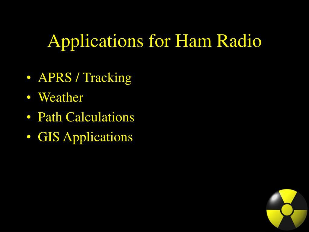Applications for Ham Radio