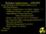building applications asp net