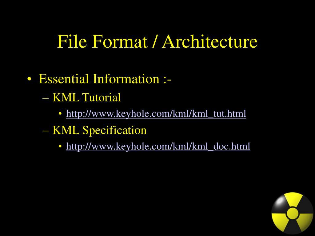 File Format / Architecture