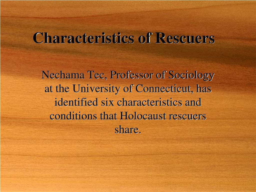Characteristics of Rescuers