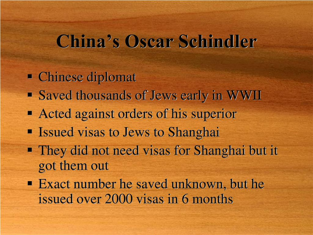 China's Oscar Schindler