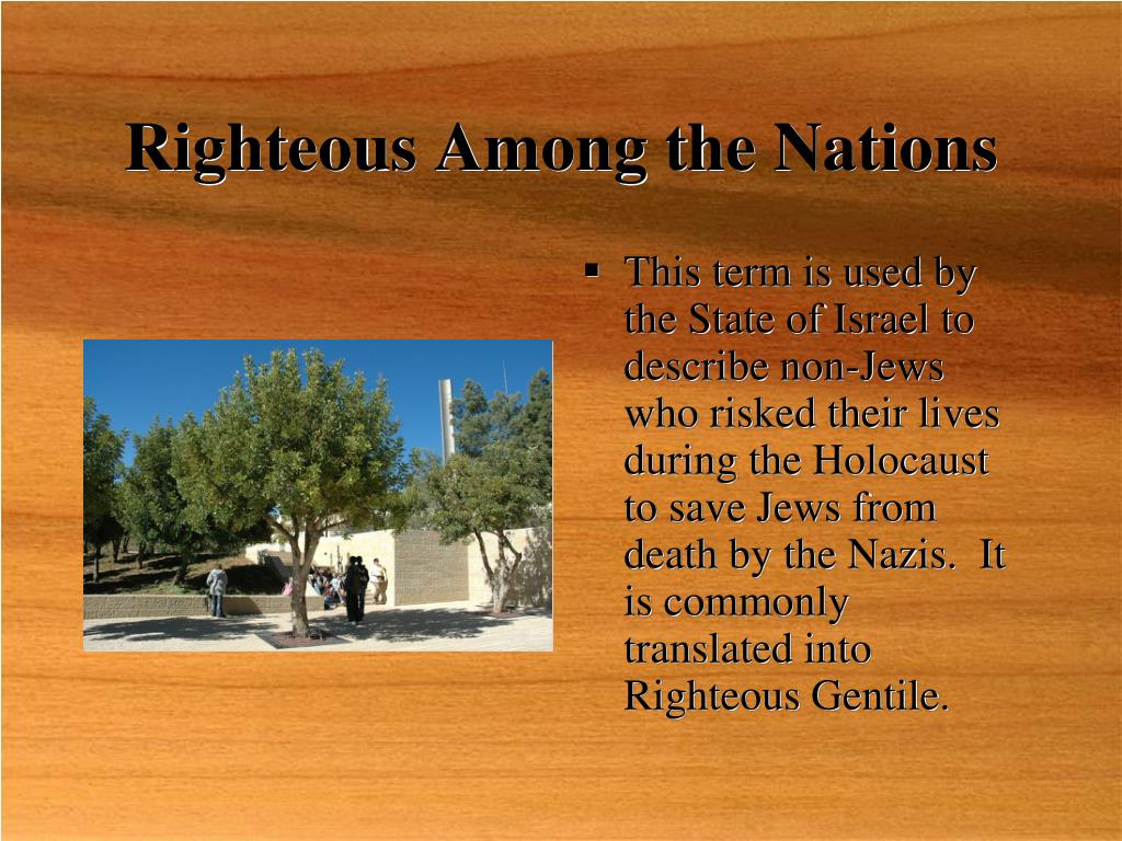 Righteous Among the Nations