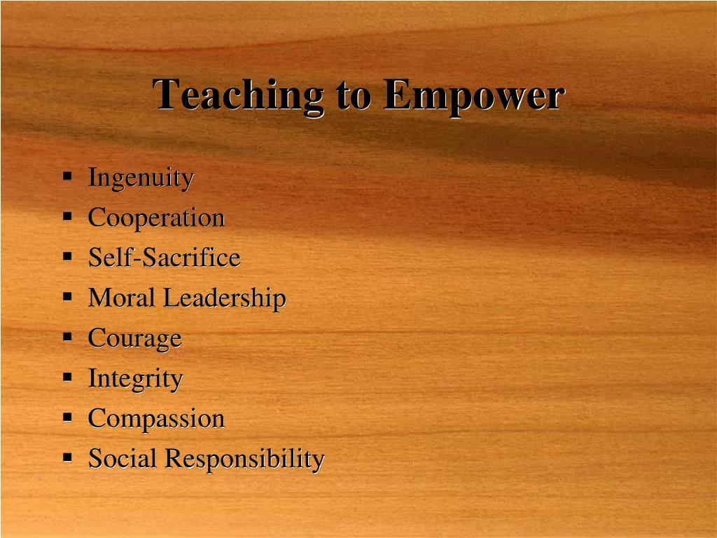 Teaching to Empower