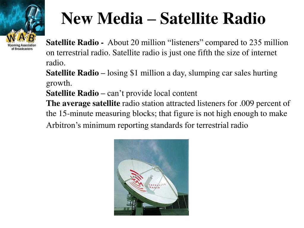 New Media – Satellite Radio