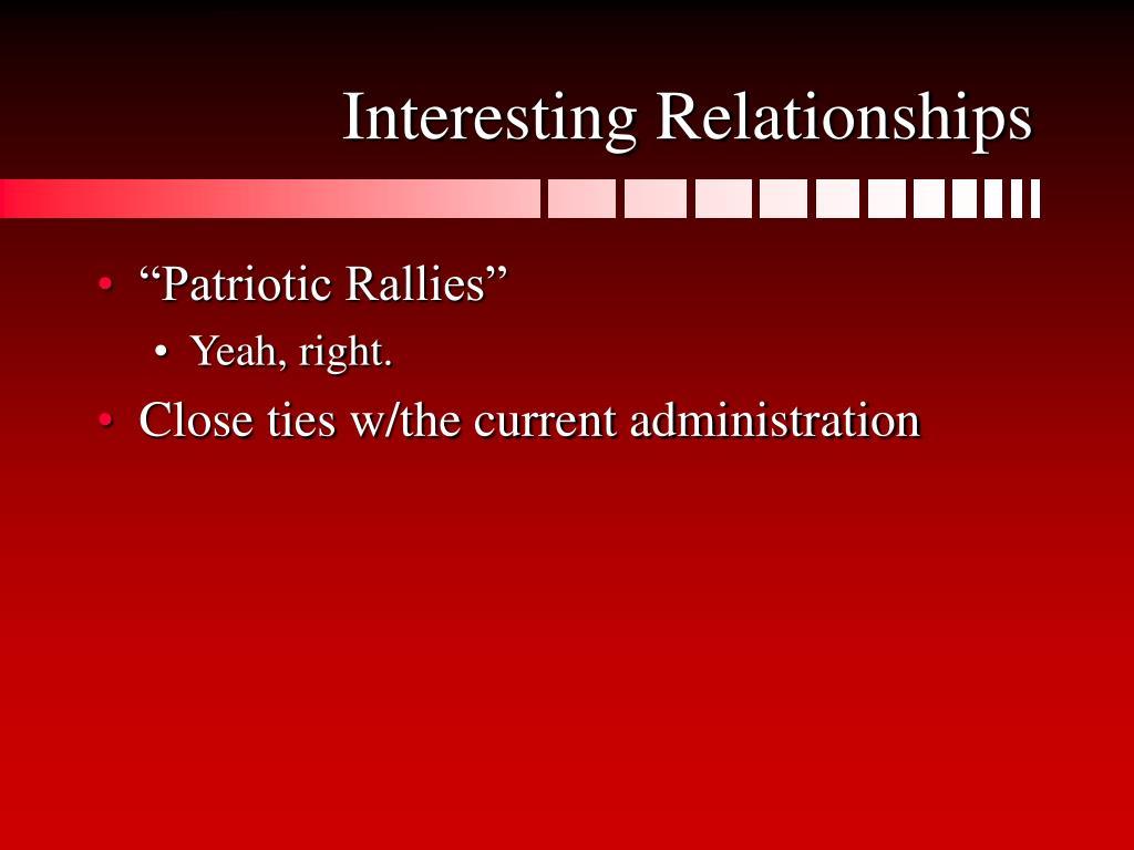 Interesting Relationships