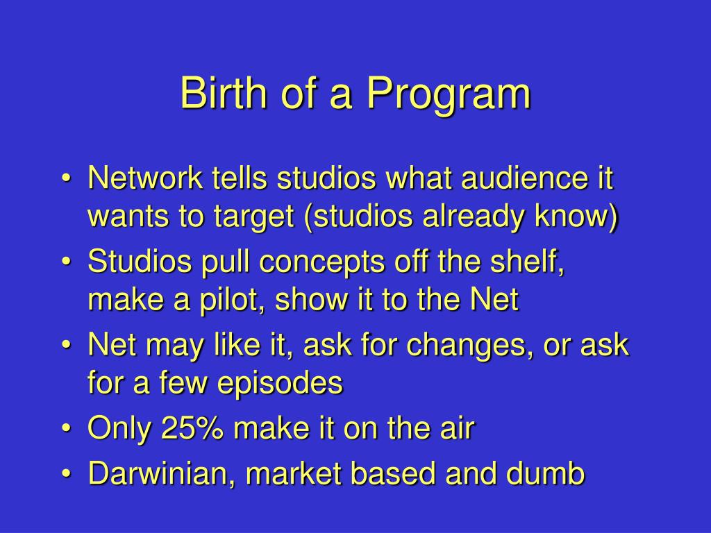Birth of a Program