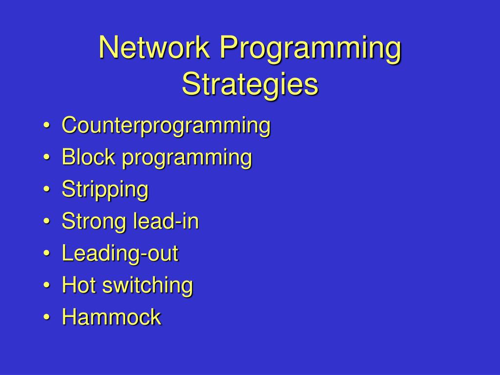 Network Programming Strategies