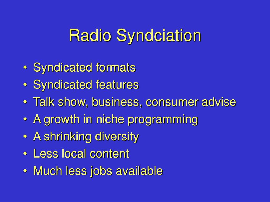 Radio Syndciation