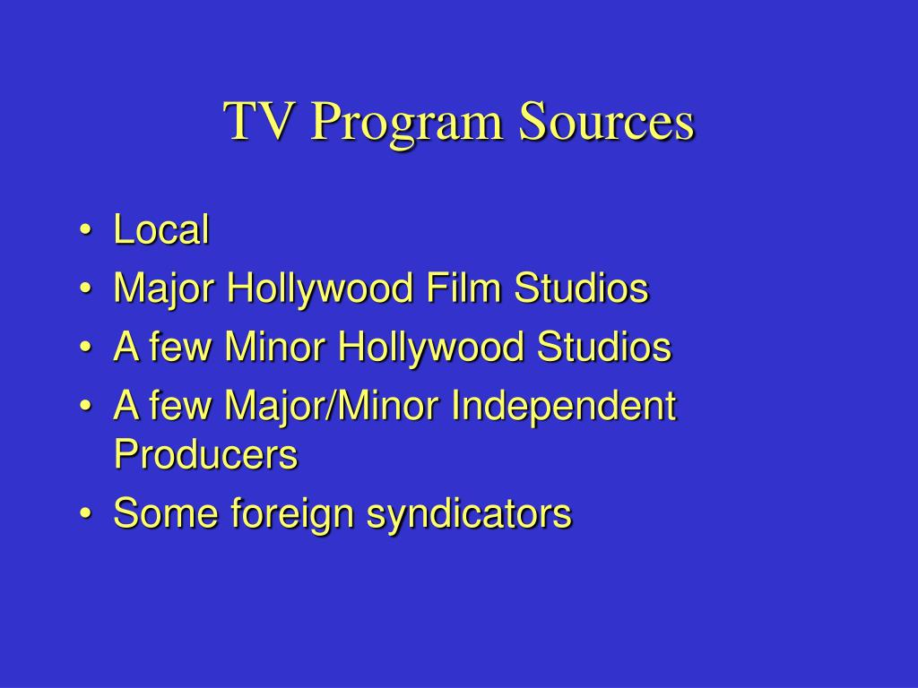 TV Program Sources