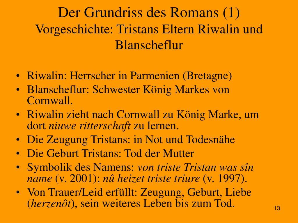 Der Grundriss des Romans (1)