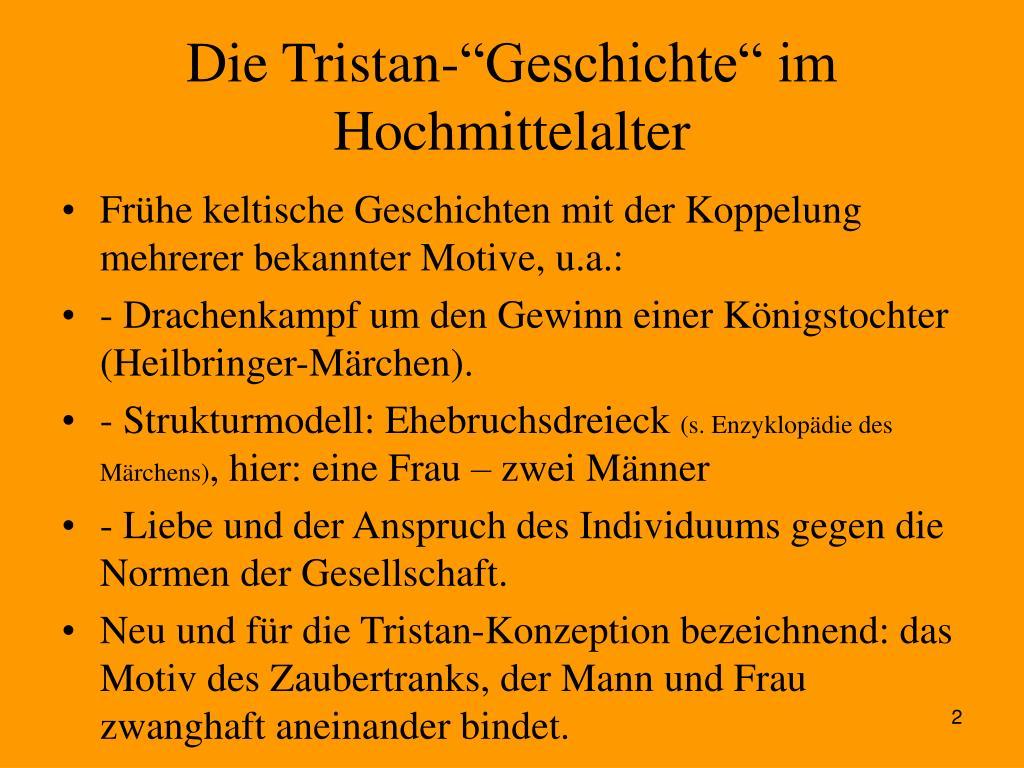 """Die Tristan-""""Geschichte"""" im Hochmittelalter"""