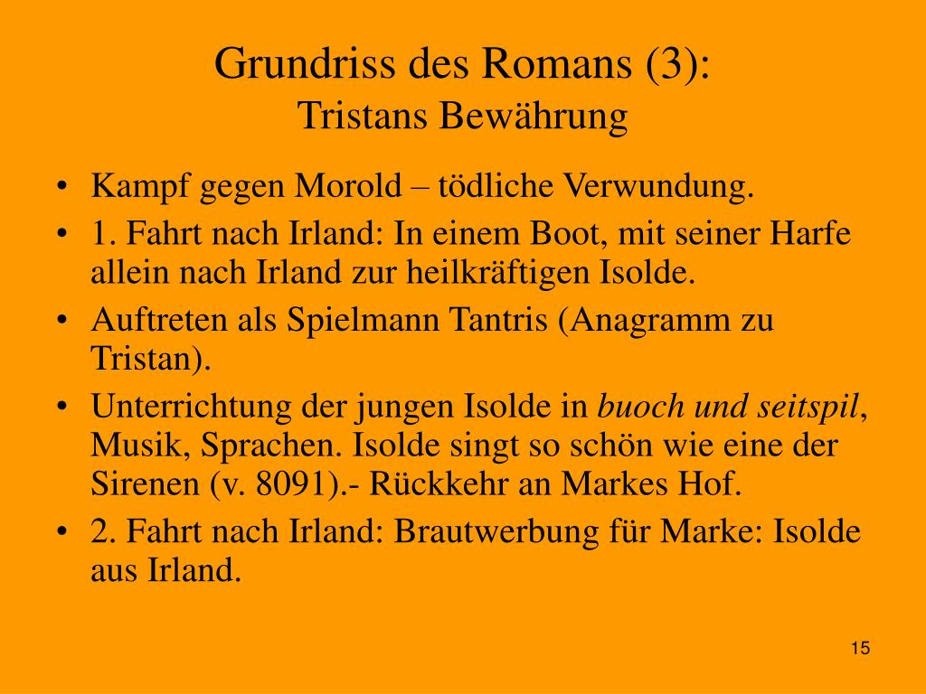 Grundriss des Romans (3):