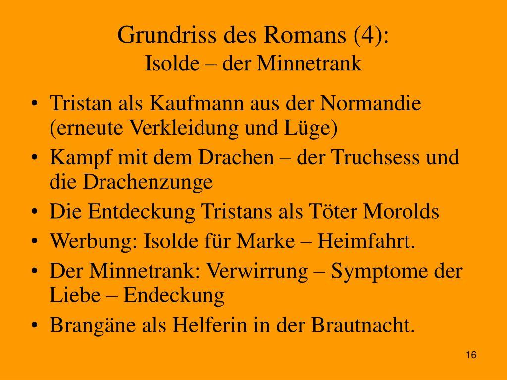 Grundriss des Romans (4):