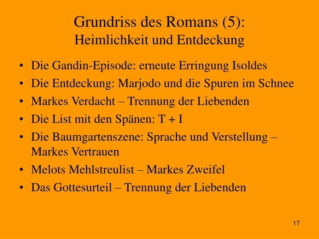 Grundriss des Romans (5):