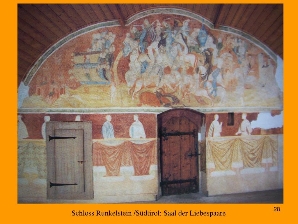 Schloss Runkelstein /Südtirol: Saal der Liebespaare