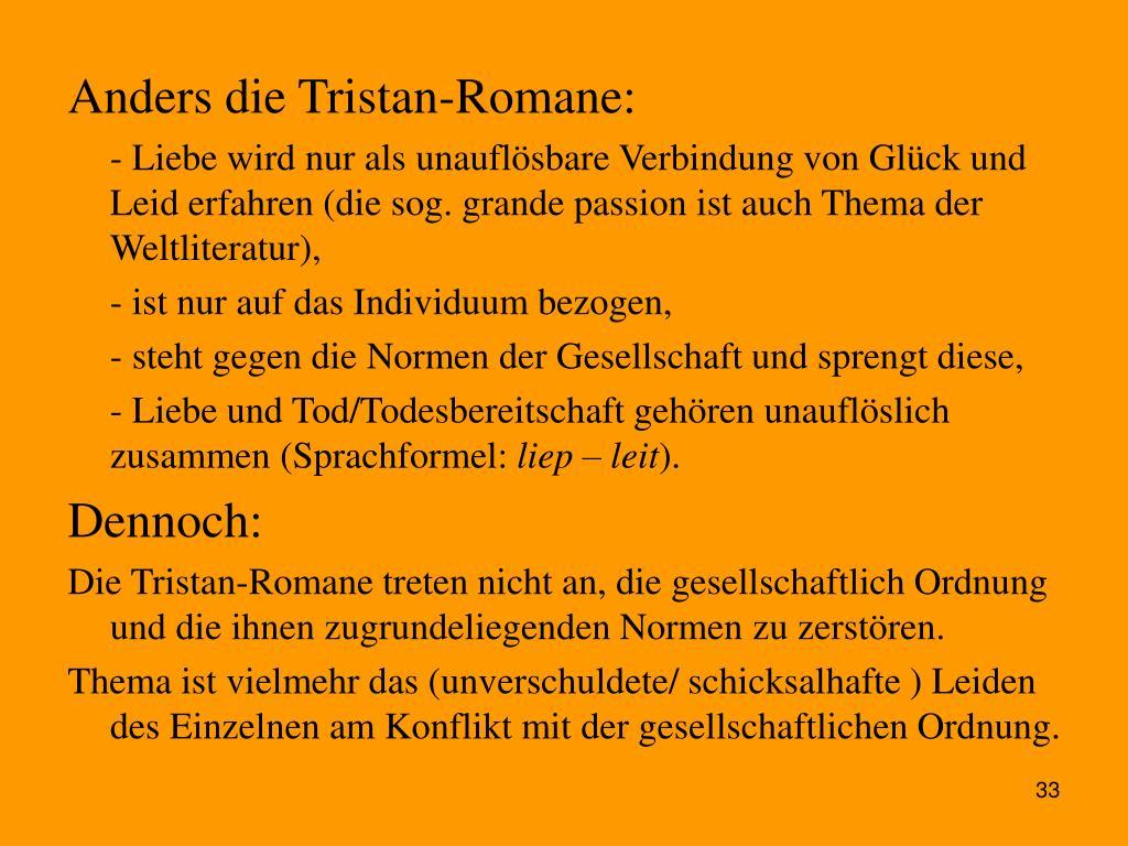 Anders die Tristan-Romane: