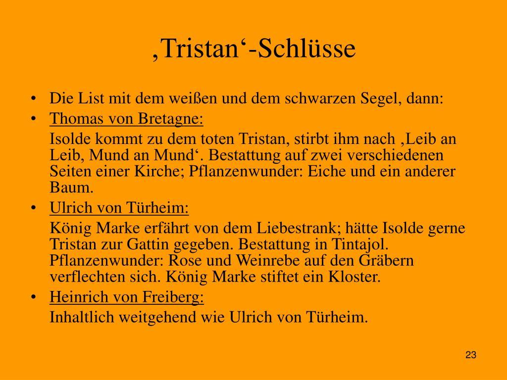 'Tristan'-Schlüsse