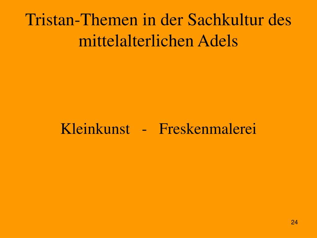 Tristan-Themen in der Sachkultur des mittelalterlichen Adels