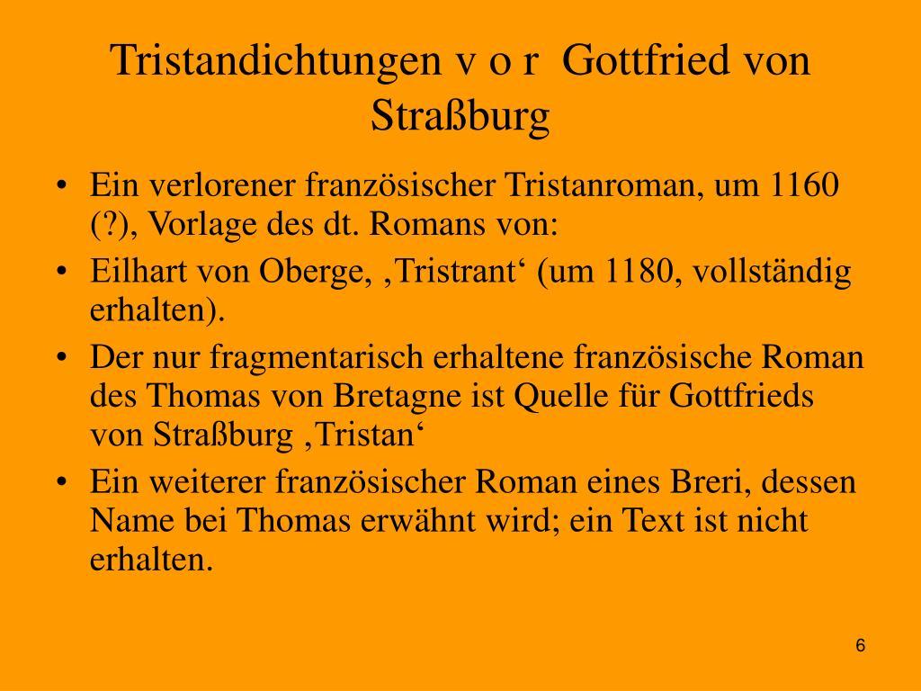 Tristandichtungen v o r  Gottfried von Straßburg