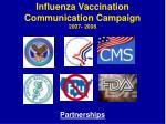 influenza vaccination communication campaign 2007 200813