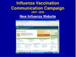 influenza vaccination communication campaign 2007 20088