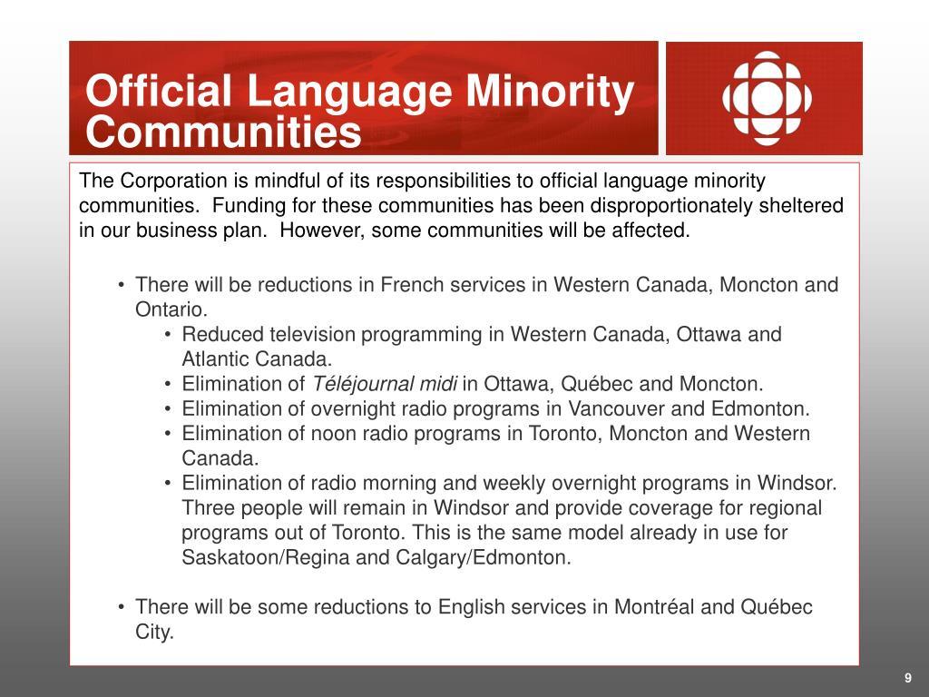 Official Language Minority Communities