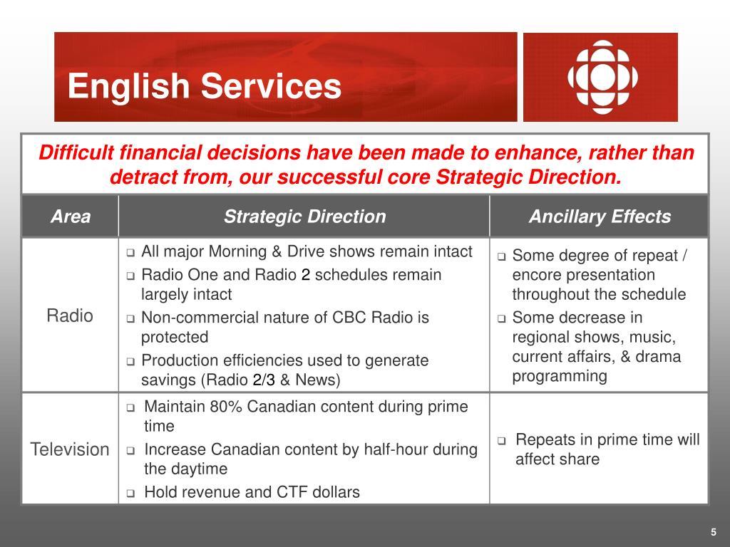 English Services