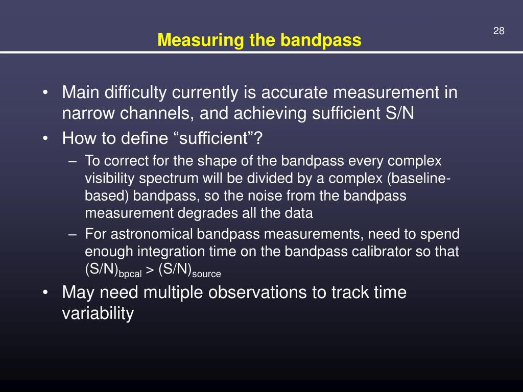 Measuring the bandpass