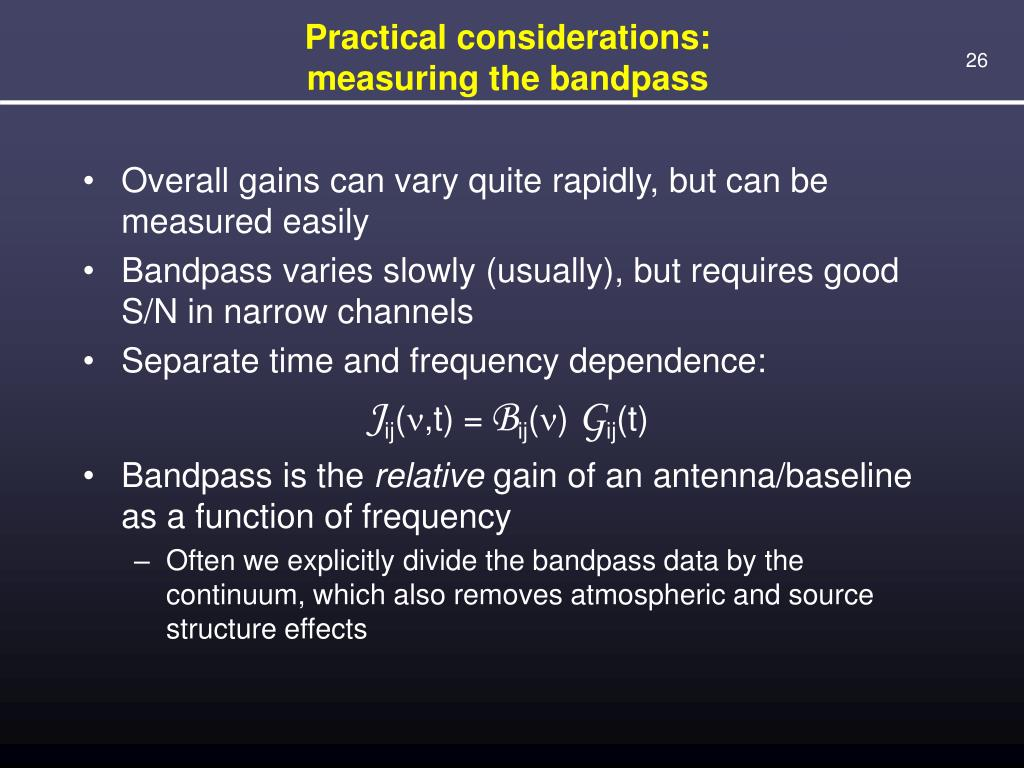Practical considerations: