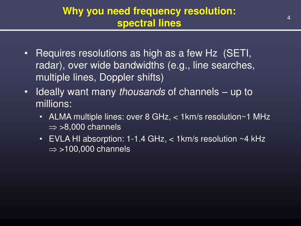 Why you need frequency resolution: