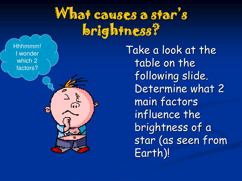 What causes a star's brightness?